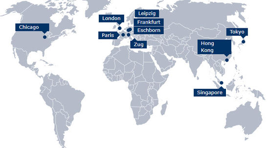 Eurex Global Office Locations Map